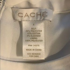 Cache Dresses - White cache dress never worn